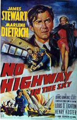 No Highway in the Sky - US Theatrical release poster