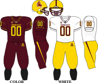 2010 Arizona State Sun Devils football team - Image: Pac 10 Uniform ASU 2010