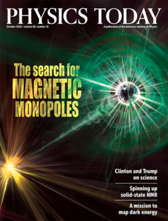 Physics Today - Cover of October 2016 issue