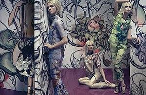 James Jean - Prada advertisement featuring James Jean designs
