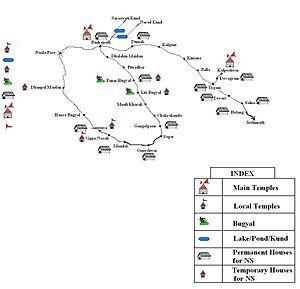 Rudranath - Map of Rudranath