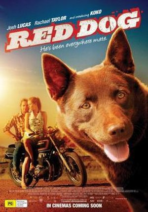 Koko (dog) - Koko on theatrical poster for Red Dog