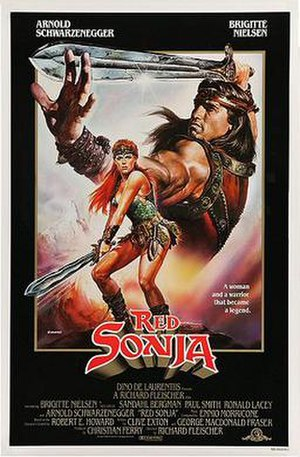 Red Sonja (film) - Theatrical release poster by Renato Casaro