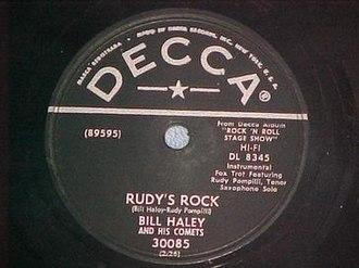 Rudy's Rock - 1956 Decca 78, 30085A.