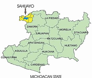 Sahuayo - Image: Sahuayo map 2
