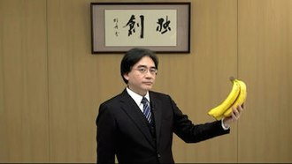 Satoru Iwata - Iwata was well known for incorporating his humour into his Nintendo Direct videos, such as during a pre-recorded video shown at E3 2012 when he stared at bananas in silence for several seconds before turning to the camera.