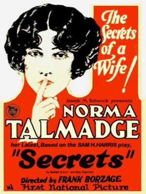 Secrets (1924 film) - Theatrical poster