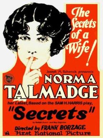 Secrets (1924 film) - Theatrical poster