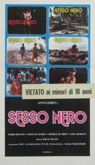 Sesso nero - Film poster (Italian theatrical release)