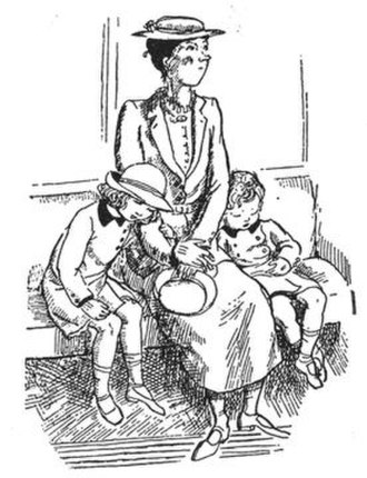 Mary Poppins (character) - Mary Poppins as imagined by the illustrator of the book series, Mary Shepard, for the first volume