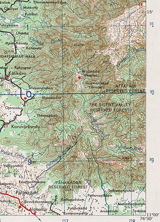 Silent Valley National Park - Silent Valley National Park Topography 1:250,000., 1959'.