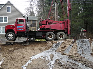 Typical drill rig for water source installatio...
