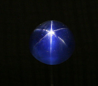 330 carat cabochon-cut star sapphire currently located at the Smithsonian National Museum of Natural History