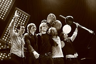 Switchfoot - Left to right: Jerome Fontamillas, Chad Butler, Drew Shirley, Jon Foreman and Tim Foreman