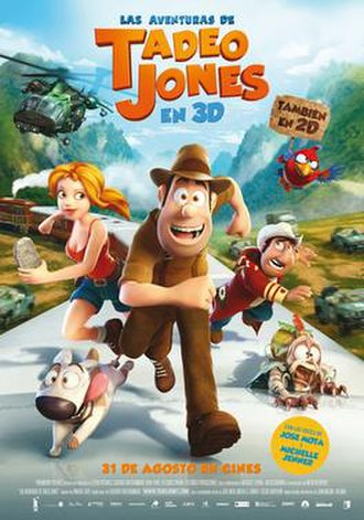 Tad, The Lost Explorer - Spanish theatrical release poster
