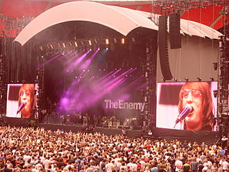 The Enemy (UK rock band) - The Enemy live at Wembley Stadium in July 2009