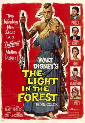 The Light in the Forest (film) - Theatrical release poster
