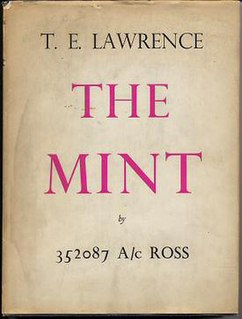 <i>The Mint</i> (book) book by Thomas Edward Lawrence