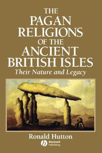 The Pagan Religions of the Ancient British Isles - The first edition cover of Hutton's book.