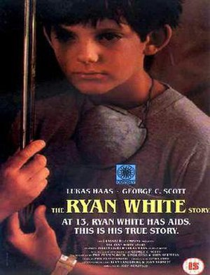 "The Ryan White Story - UK VHS cover of ""The Ryan White Story"""