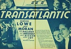 Transatlantic (1931 film) - Film poster