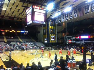 Memorial Gymnasium (Vanderbilt University) - Memorial Gym during the Women's game against Auburn on January 9, 2011.