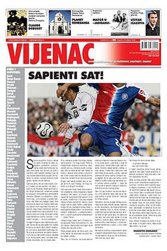Vijenac - Cover of the 28 February 2008 issue