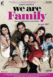 <i>We Are Family</i> (2010 film) 2010 film by Sidharth Malhotran