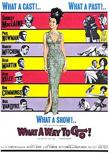 What a Way to Go! - Wikipedia What A Way To Go Shirley Maclaine Gene Kelly