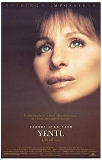 <i>Yentl</i> (film) 1983 romantic musical drama film directed by Barbra Streisand