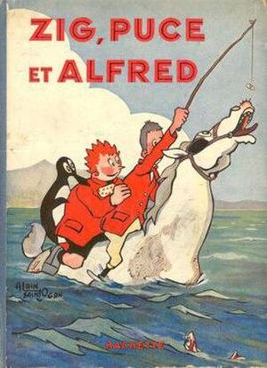 Zig et Puce - Cover of Zig, Puce et Alfred (1929) by Alain Saint-Ogan