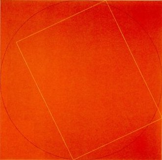 Robert Mangold - A Rectangle and Circle within Square by Robert Mangold, Honolulu Museum of Art