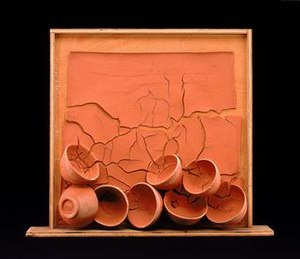 Margaret Boozer - Eight Red Bowls, Maryland terra cotta and pine, Margaret Boozer, 1966, Smithsonian American Art Museum