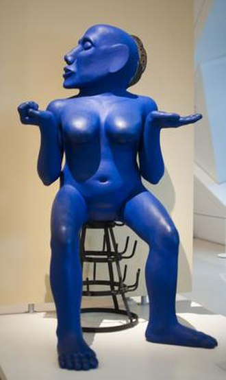 (Untitled) Blue Lady - (Untitled) The Blue Lady Sculpture