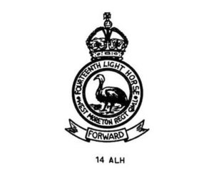 14th Light Horse Regiment (Australia) - 14th Light Horse Regiment hat badge