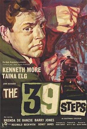 The 39 Steps (1959 film) - Original British cinema poster
