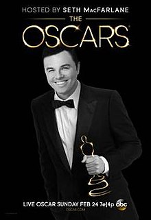 Official poster featuring Seth Macfarlane promoting the 85th Academy Awards in 2013.