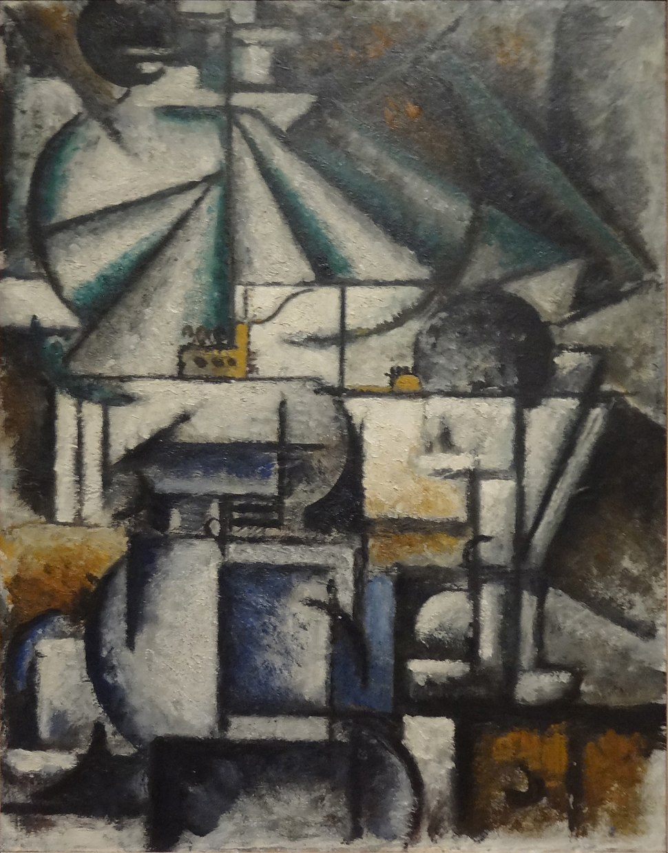 Ardengo Soffici, 1912-13, Deconstruction of the Planes of a Lamp, oil on panel, 45 x 35 cm, Estorick Collection, London