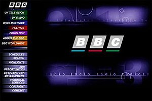 BBC Online - BBC website as it appeared in 1997