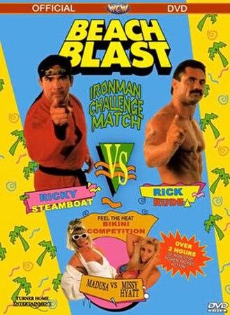 Beach Blast (1992) - DVD cover featuring Ricky Steamboat, Rick Rude, Madusa, and Missy Hyatt