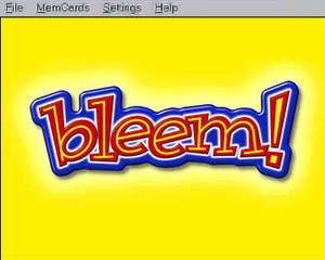 The interface of the discontinued Bleem! emulator