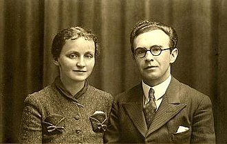 J. Gwyn Griffiths - Griffiths with his wife Kate on their wedding day in 1939
