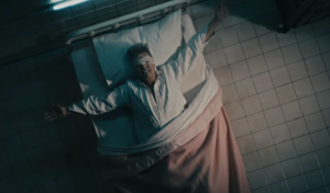 Lazarus (David Bowie song) - Bowie in a deathbed, as depicted in the music video