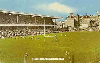 Cardiff Arms Park - The 1934 new North Stand, rugby ground, Cardiff Arms Park