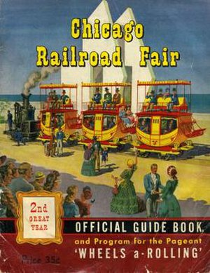 Chicago Railroad Fair - The cover for the Chicago Railroad Fair's 1949 official program