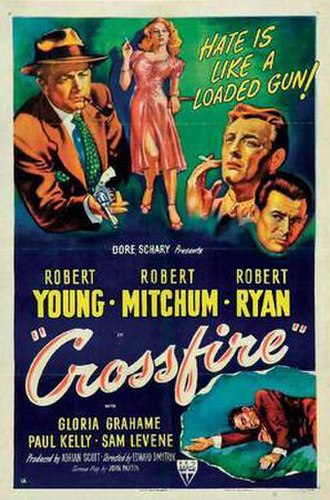 Crossfire (film) - Theatrical release poster