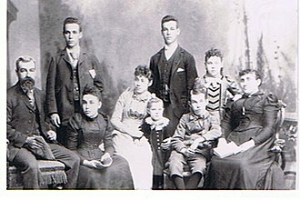John Dickenson (Canadian politician) - Family portrait of the Dickenson family, with John is on the left (1896)