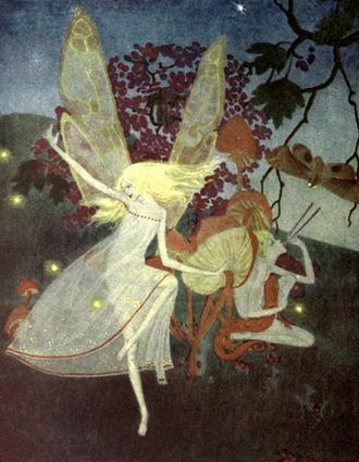 Dorothy P. Lathrop - Frontispiece to Walter de la Mare's Book of Fairies