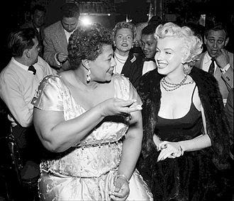 Tiffany Club - Ella Fitzgerald and Marilyn Monroe at the Tiffany Club, 1954
