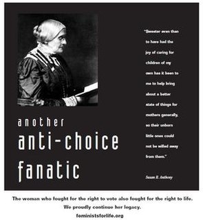 Susan B. Anthony abortion dispute